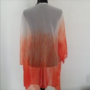 🆕🔶🔸Chico's Size 3 Large Ombré Jacket / Cover Up